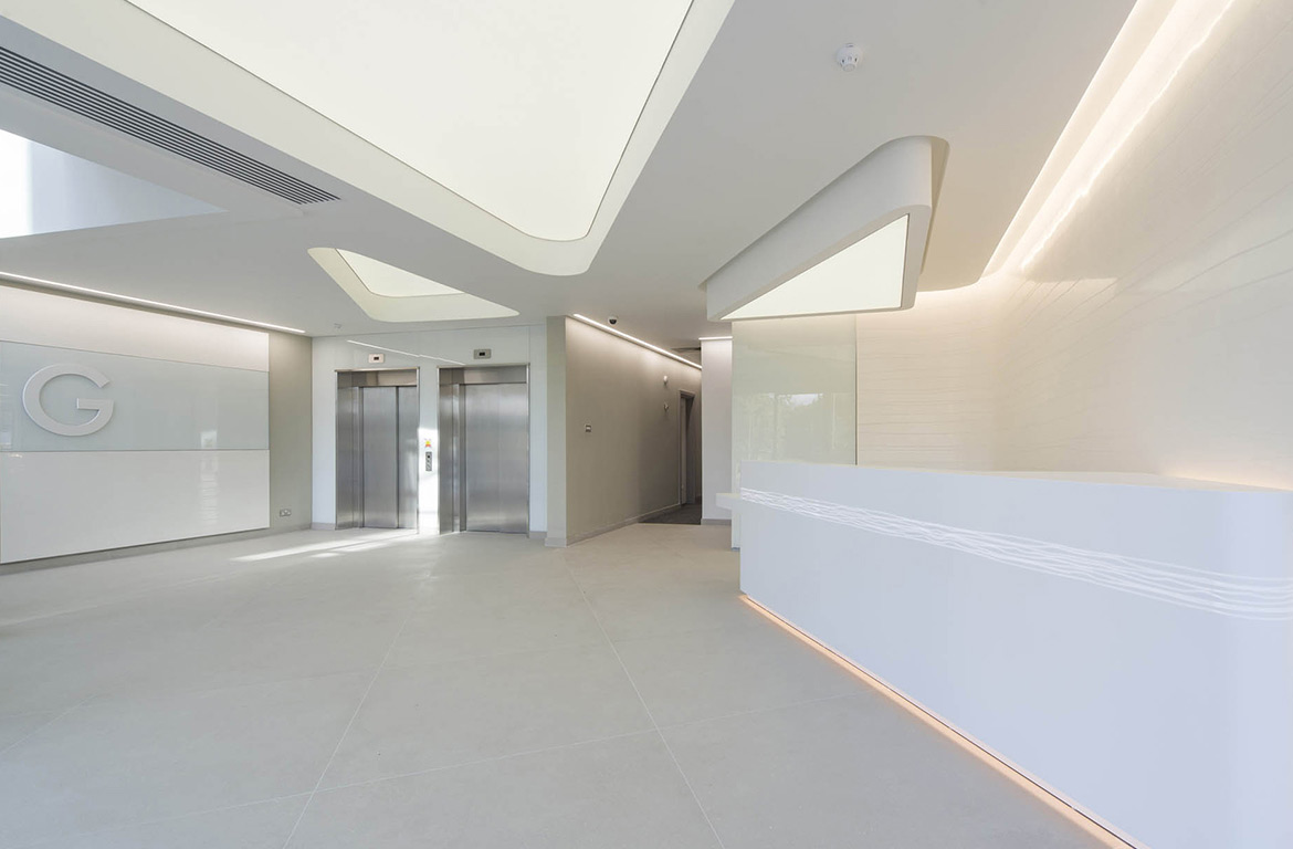 Magna House – Internal shot of contemporary office accommodation to a Grade A finish